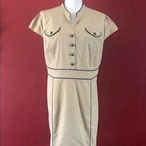 Marina:  Cute and casual beige dress Sz 16